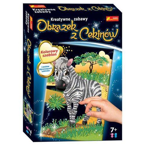 Ranok-creative Obrazek z cekinów - zebra - (4823076121983)