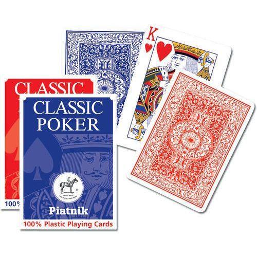 Piatnik Karty do gry 1 talia, plastik poker