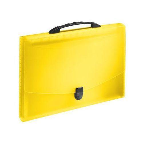 Esselte Teczka harmonijkowa  vivida z rączką, żółta 624027, kategoria: koszulki, teczki, koperty