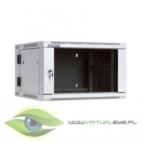 Linkbasic szafa wisząca dwusekcyjna 19 6u 550mm drzwo szklane ral7044 (5902002053570)