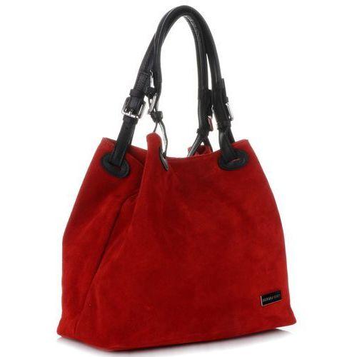 281bdaa5456a2 Vittoria gotti uniwersalne włoskie torebki skórzane na co dzień zamsz  naturalny wysokiej jakości czerwone (kolory