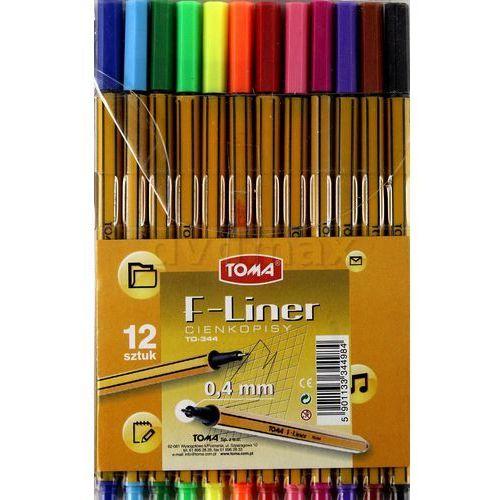 cienkopis f-liner 0.4mm, 12 kolorów (to-344 z98) darmowy odbiór w 21 miastach! marki Toma