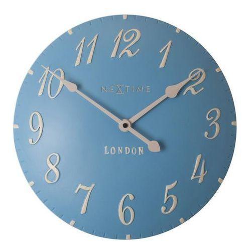 Zegar ścienny London Arabic niebieski, kolor niebieski