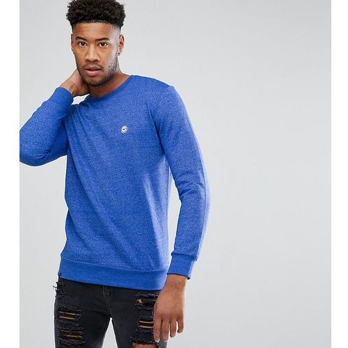 tall crew neck marl sweater - navy, Le breve
