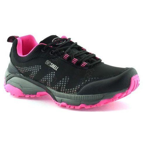 Buty sportowe American Club 1605 - Różowy ||Czarny, kolor różowy