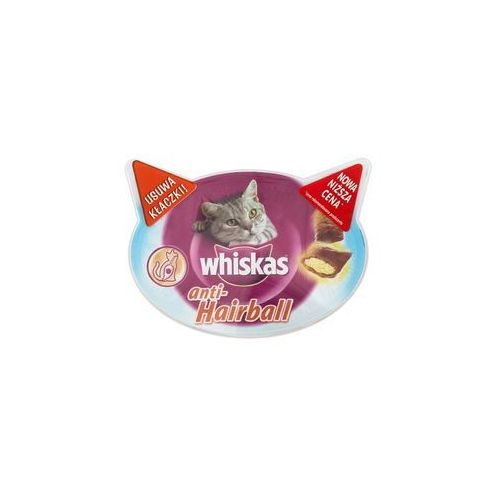 Whiskas anti hairball 8x50g + whiskas potrawka tradycyjna w galaretce 4x85g gratis!!! (5998749116579)