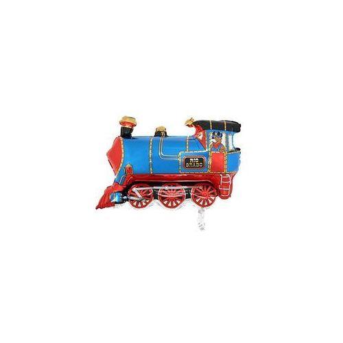 Grabo balloons Balon foliowy pociąg niebieskie - 76 x 61 cm - 1 szt. (8057680302209)