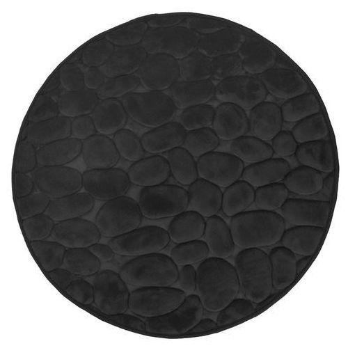 Dywanik łazienkowy okrągły 3D czarny, 767-20