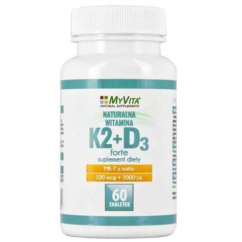 WITAMINA K2+D3 W TABLETKACH 60 SZTUK Kuracja na 2 miesiące (5905279123458)