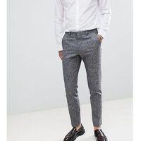 slim suit trousers in linen texture - black marki Heart & dagger