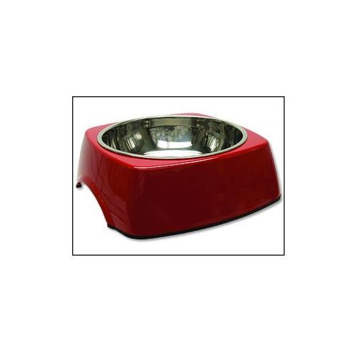 Plaček Miska dog fantasy stal nierdzewna kwadratowa czerwona 27,7 cm 1400ml (8595091756209)