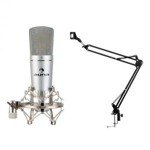 Auna mic-920 usb, zestaw mikrofonowy v3, mikrofon pojemnościowy, ramię obrotowe, torba ochronna (4060656386336)