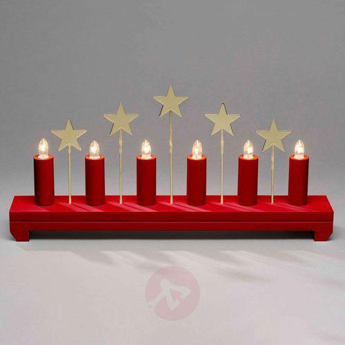Konstmide christmas Świecznik gwiazdy, drewno, 6-punktowy, czerwony