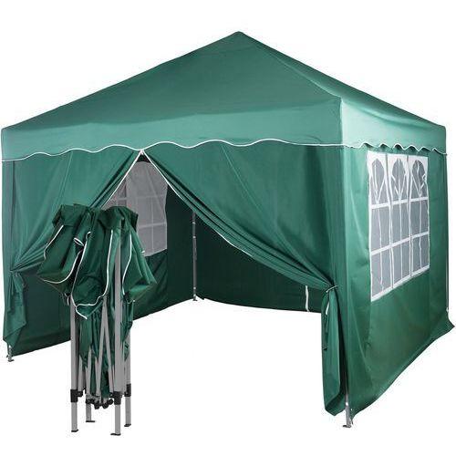 Ekspresowy zielony pawilon namiot ogrodowy 3x3m + 4 ścianki - zielony marki Instent ®