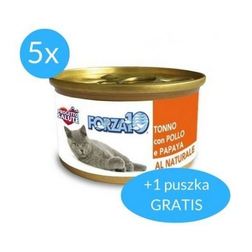 maintenance dla kota 5x75g + 75g gratis (450g): smak - tuńczyk z kurczakiem dostawa 24h gratis od 99zł marki Forza10