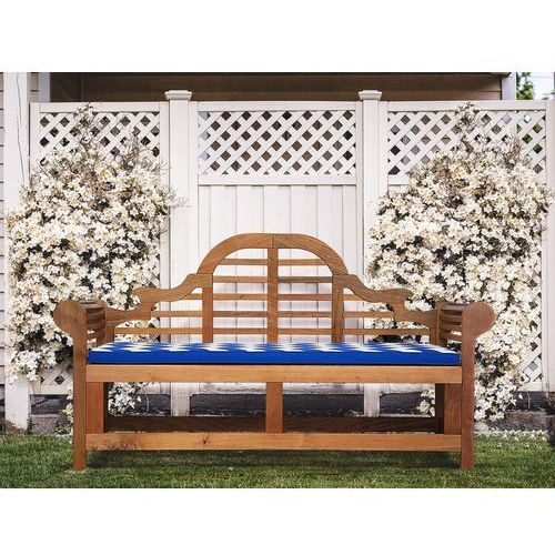 Beliani Poducha do ławki ogrodowej marlboro niebiesko-biały wzór 152x52x5 cm (7105277662548)
