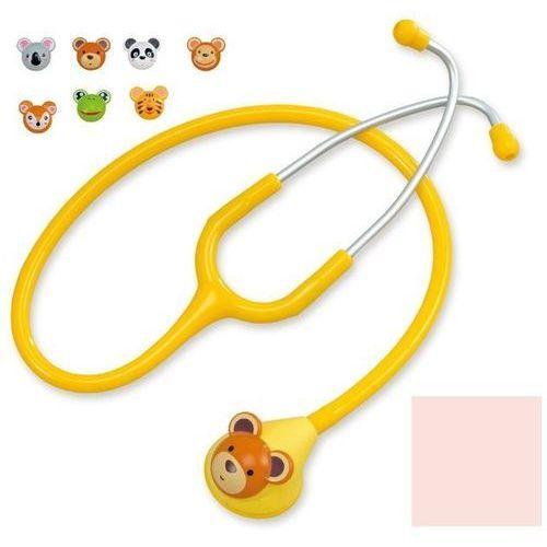 Stetoskop pediatryczny Spirit Deluxe F606PF z nakładkami - jasno różowy