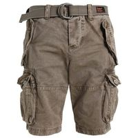 Superdry CORE CARGO HEAVY Szorty jeansowe dust cloud (5057101411605)