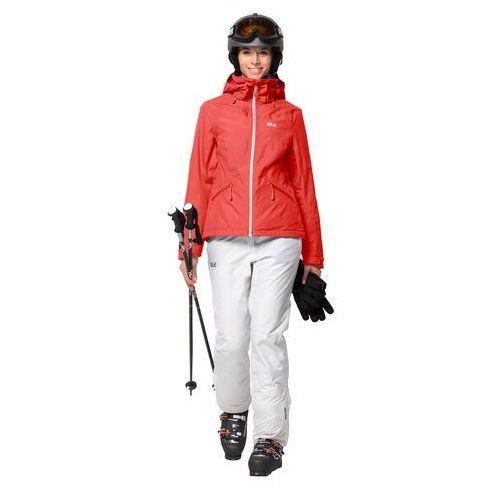 Damska kurtka narciarska POWDER MOUNTAIN JACKET W orange coral - S, 1111631-3032002