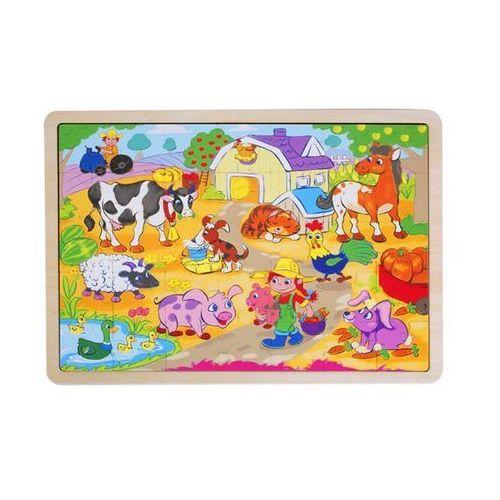 Puzzle drewniane - Wieś (5907791580177)