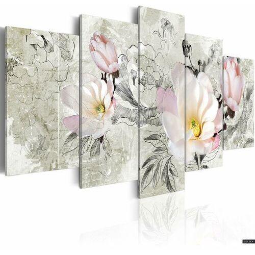 SELSEY Obraz - magnolia - styl retro 100x50 cm (5903025015804)