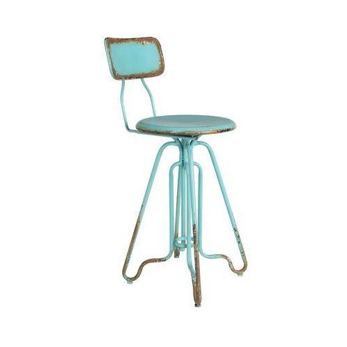 Dutchbone stołek barowy ovid niebieski 1500043