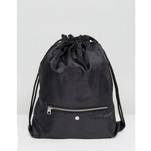 drawstring bag with zip pocket - black marki Cheap monday