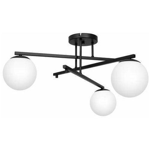 Luminex daga 3148 plafon lampa sufitowa 3x60w e27 czarny/biały (5907565931488)