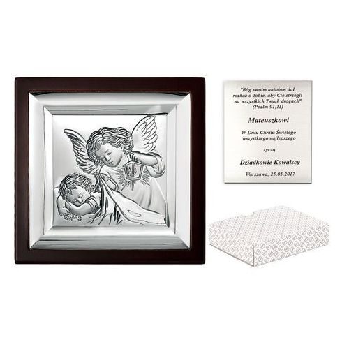 Obrazek srebrny marone anioł stróż 10cm grawer pr359 marki Murrano