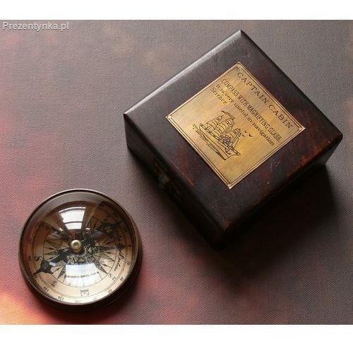 Kompas soczewkowy w pudełku drewnianym