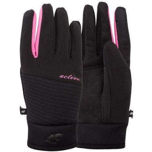 4f Damskie rękawiczki softshell z17 red002 czarny s