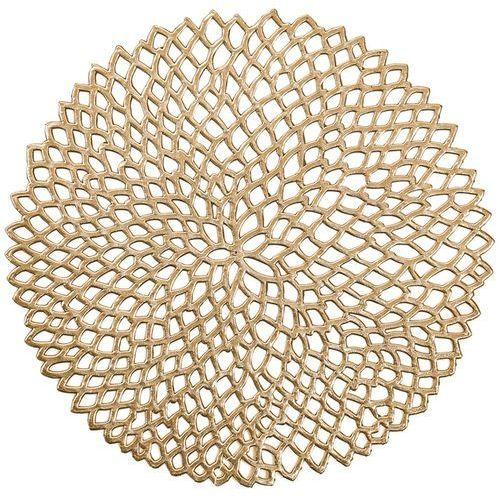 Podkładka ochronna, dekoracyjna mata na stół - kolor złoty, Ø 38 cm, ZELLER, B071NM9V7D