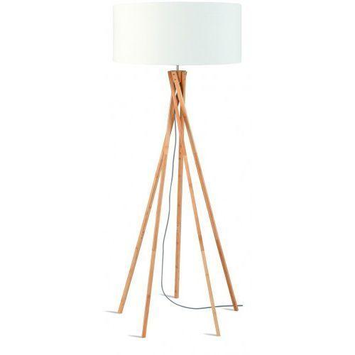 It's about romi Lampa podłogowa kilimanjaro bambus 129cm/ abażur 60x30cm, lniany biały