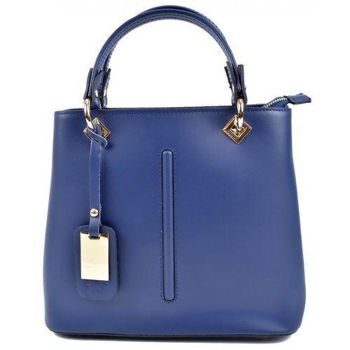RobertaM torebka niebieska, kolor niebieski