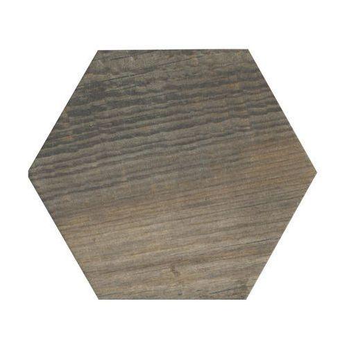 Ceramika pilch Gres szkliwiony hexagon wood brąz 14 x 16.3