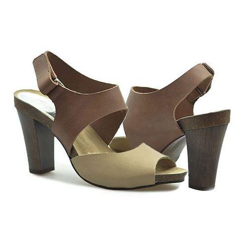 Sandały Karino 0775/043 Brązowe/Beżowe lico, kolor brązowy