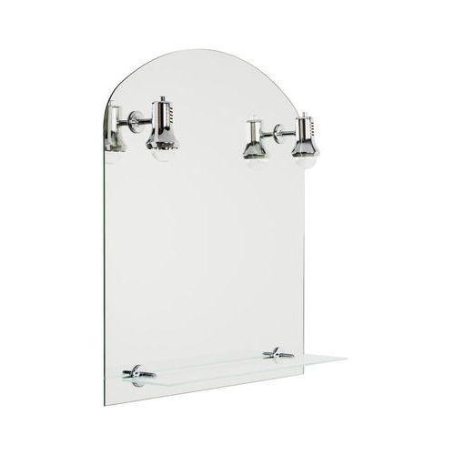 Dubiel vitrum Lustro łazienkowe z oświetleniem kinkietowym aster 60 x 65