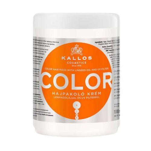 KALLOS KJMN Color maska do włosów farbowanych z olejem lnianym i filtrem UV 1000ml