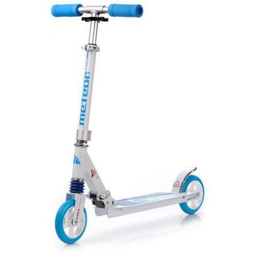Regulowana Hulajnoga do 100kg METEOR RACER - Niebieska - Niebieski ||Biały