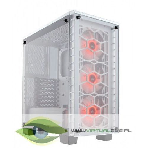 Corsair %crystal series 460x rgb compact atx mid-tower, white (0843591064231)