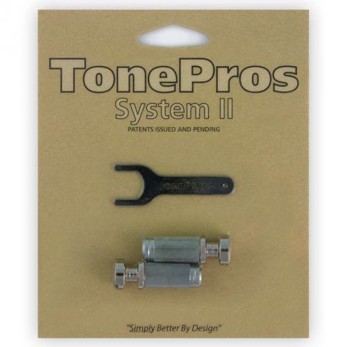 TonePros VNS1-N - G-Style Locking Studs, części mostka do gitary, niklowane