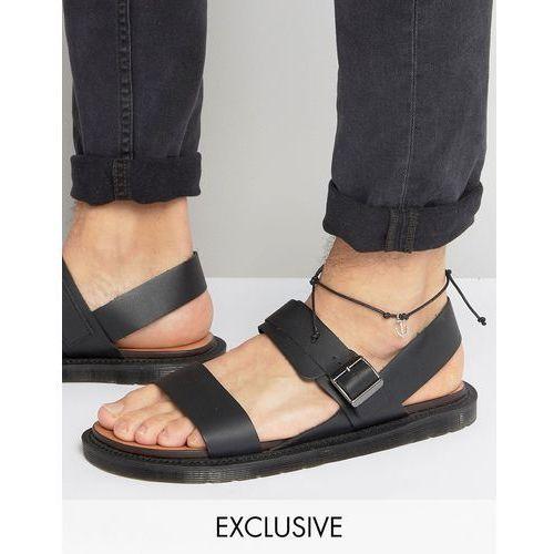 Reclaimed Vintage Inspired Anklet With Anchor Pendant - Black - produkt z kategorii- Pozostałe