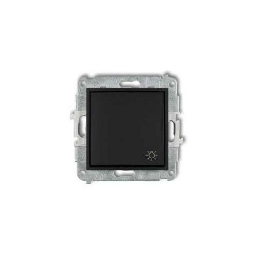 Karlik Przycisk zwierny mini 12mwp-5 światło czarny mat (5903268586260)