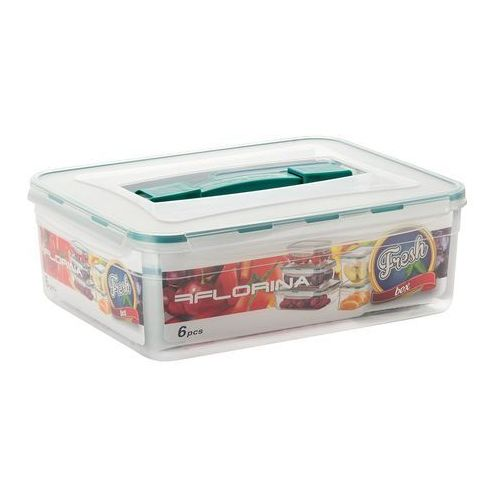 Pojemniki do żywności fresh box 6szt 5,5l 1,4l 800ml 2x700ml 400ml marki Florentyna