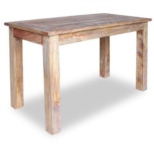 Vidaxl stół do jadalni z litego drewna odzyskanego, 120x60x77 cm (8718475569053)