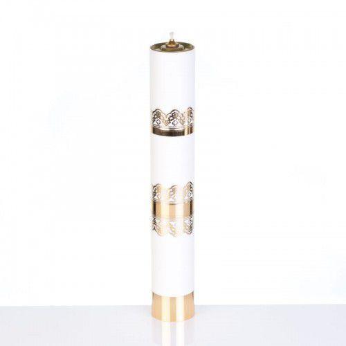 Świeca liturgiczna olejowa biała, 40 cm