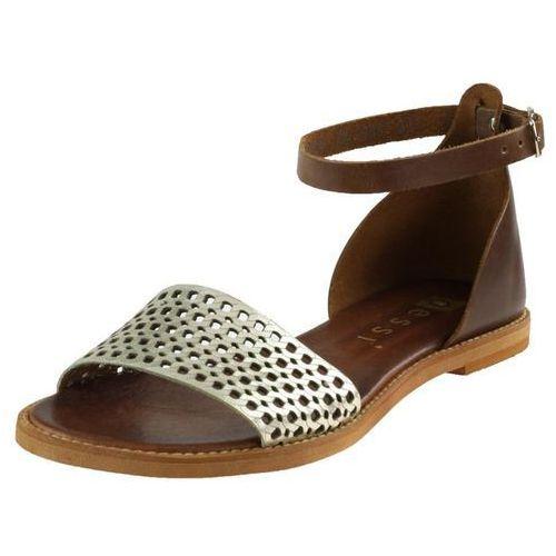 Sandały 18381 - koniak+ złoto marki Nessi
