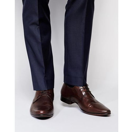 derby shoes in leather - brown, Asos