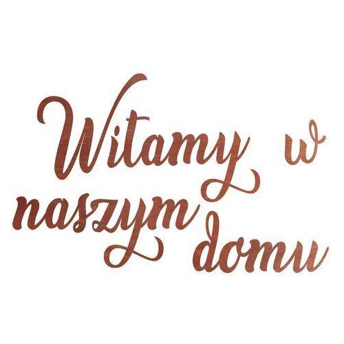 Congee.pl Dekoracja drewniana napis na ścianę witamy w naszym domu - 4 mm