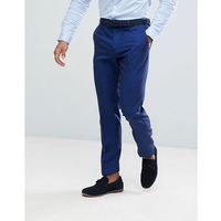 River island slim fit suit trousers in bright blue - blue